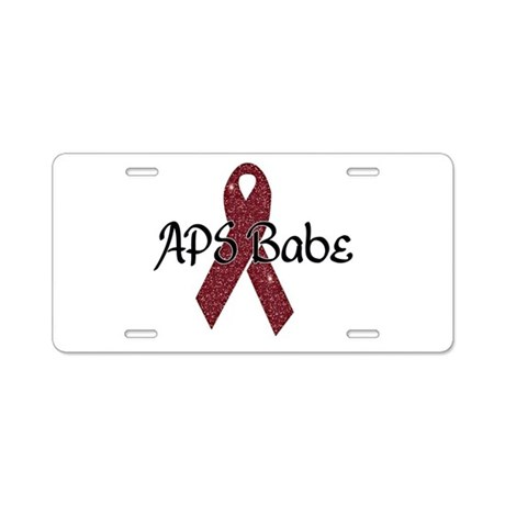 APS Babe Aluminum License Plate