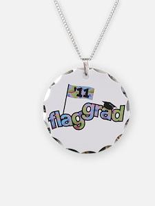 Color Guard Grad Necklace Circle Charm