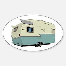 Vintage Shasta Trailer Oval Bumper Stickers