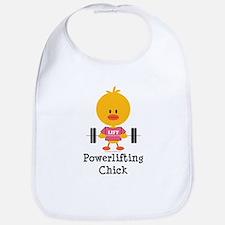 Powerlifting Chick Bib