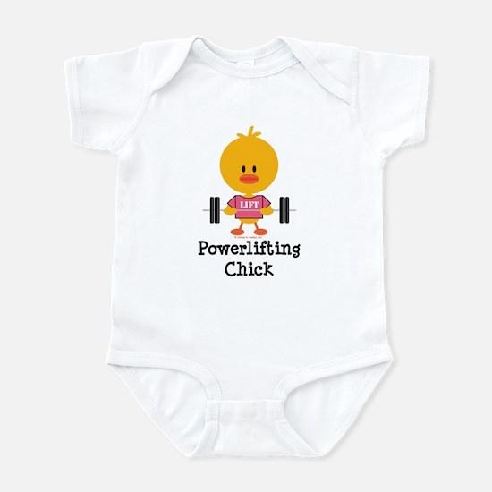 Powerlifting Chick Infant Bodysuit