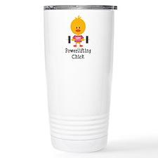 Powerlifting Chick Travel Coffee Mug