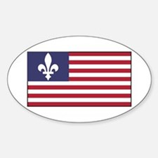 French American Sticker (Oval)