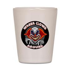 Evil Clown Shot Glass