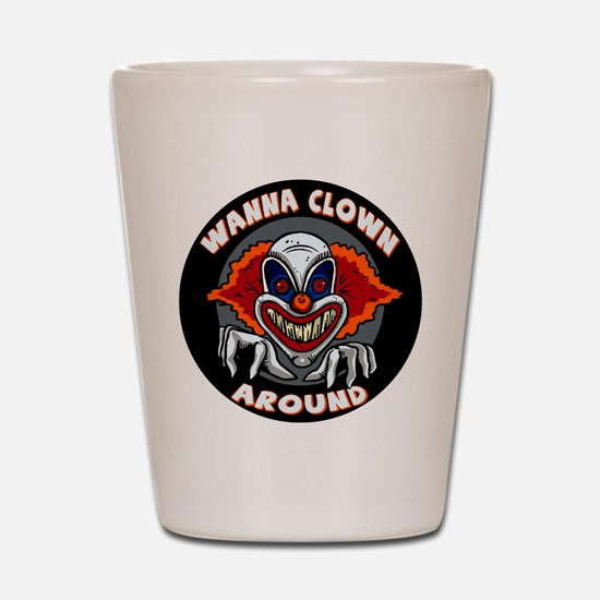 Evil Clown Shot Glass