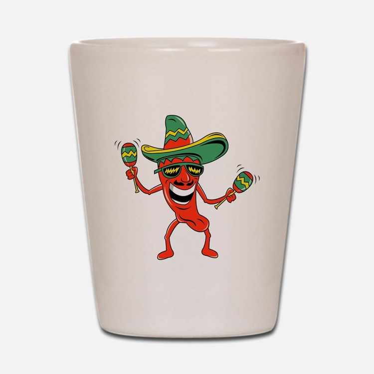 Hot Mexican Pepper Shot Glass