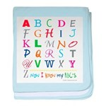 TEACH THE ABC's baby blanket