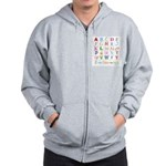 TEACH THE ABC's Zip Hoodie
