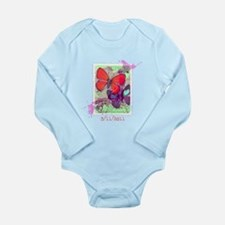 BUTTERFLY VINTAGE JAPANESE STAMP Long Sleeve Infan