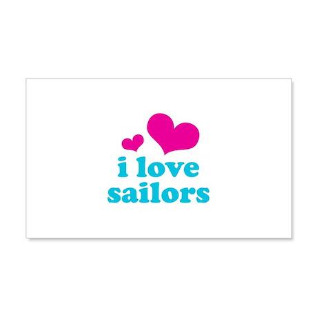 I Love Sailors 22x14 Wall Peel