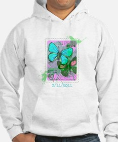 NIPPON JAPANESE BUTTERFLY STAMP Hoodie