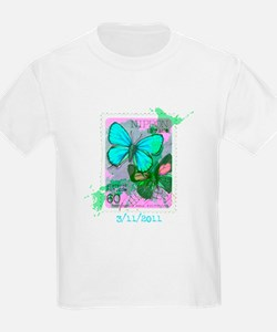 NIPPON JAPANESE BUTTERFLY STAMP T-Shirt