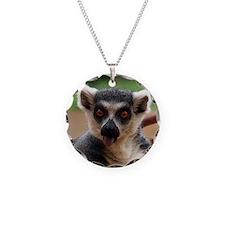Lemur Necklace Circle Charm