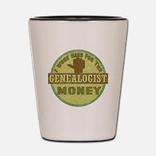 Genealogist Shot Glass