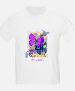 JAPANESE VINTAGE BUTTERFLY STAMP T-Shirt