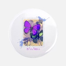 """JAPANESE VINTAGE BUTTERFLY STAMP 3.5"""" Button"""