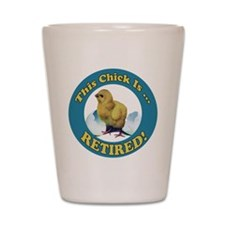 Retired Chick Shot Glass