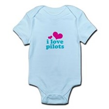 I Love Pilots Infant Bodysuit