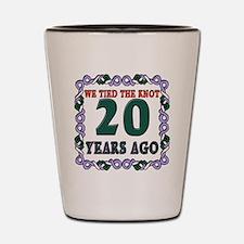 20th Wedding Anniversary Shot Glass
