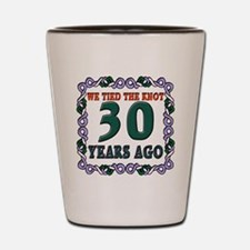 30th Wedding Anniversary Shot Glass