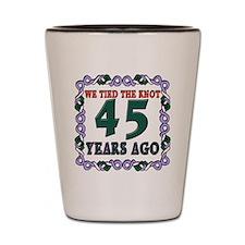 45th Wedding Anniversary Shot Glass