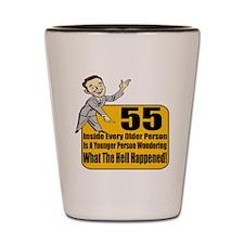 55th Birthday Shot Glass