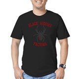 Black widows motorcycle gang Fitted T-shirts (Dark)