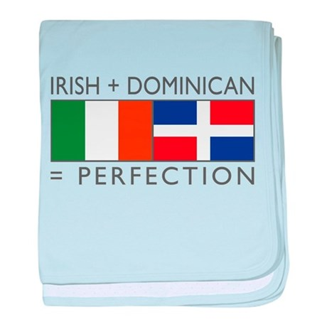 Irish Dominican heritage flag baby blanket