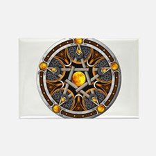 Pentacle of the Yellow Moon Rectangle Magnet