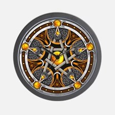 Pentacle of the Yellow Moon Wall Clock