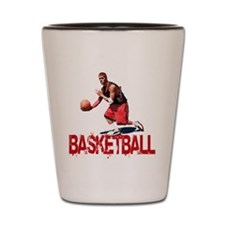 Streetball Dribble Shot Glass
