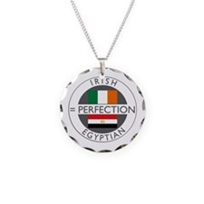 Irish Egyptian flags Necklace Circle Charm