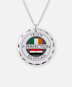 Irish Egyptian flags Necklace Circle Charm