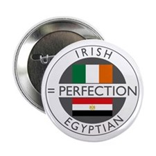 "Irish Egyptian flags 2.25"" Button"