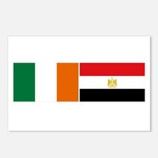 Irish Egyptian flags Postcards (Package of 8)