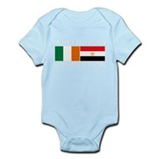 Irish Egyptian flags Infant Bodysuit