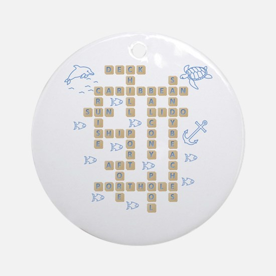 Cruise Word Game Ornament (Round)