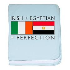 Irish Egyptian flags baby blanket