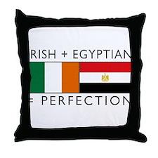 Irish Egyptian flags Throw Pillow