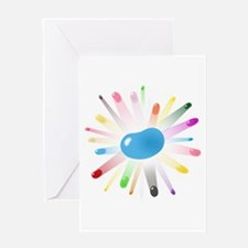 blue jellybean blowout Greeting Card
