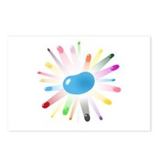 blue jellybean blowout Postcards (Package of 8)