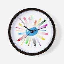 blue jellybean blowout Wall Clock