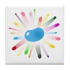 blue jellybean blowout Tile Coaster
