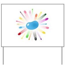 blue jellybean blowout Yard Sign