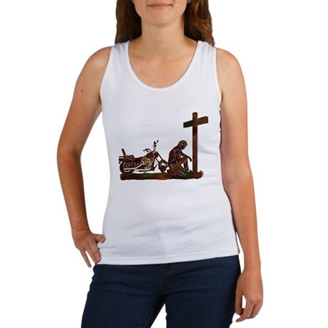 Biker at Cross Women's Tank Top