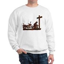 Biker at Cross Sweatshirt