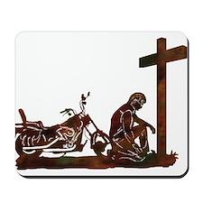 Biker at Cross Mousepad