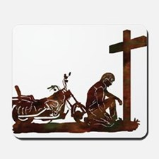 Biker at Cross Mousepad