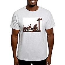 Biker at Cross T-Shirt