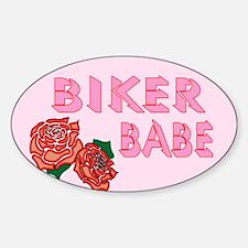 Biker Babe Sticker (Oval)